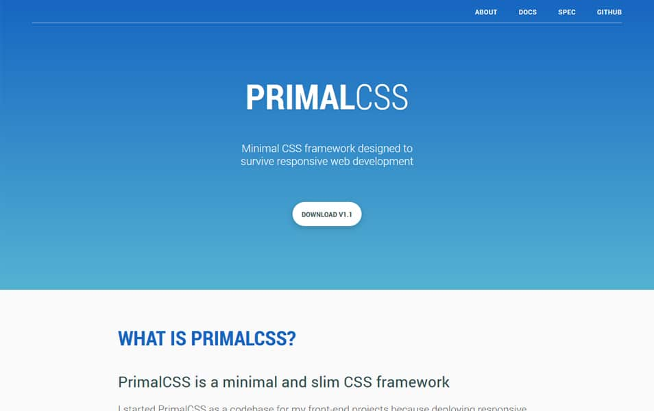100 best css frameworks for responsive design primal css malvernweather Images