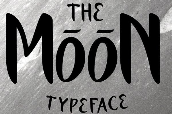 The Moon Typeface