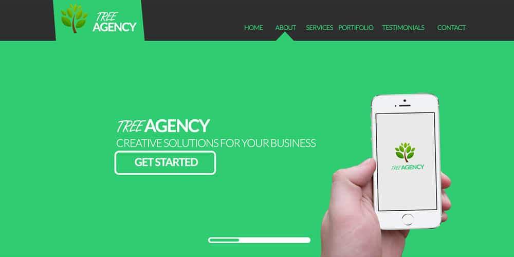 Free Agency Website Templates PSD