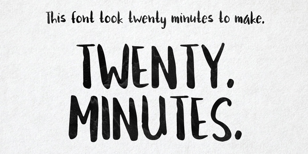 Twenty Minutes - Brushed Handwriting Font