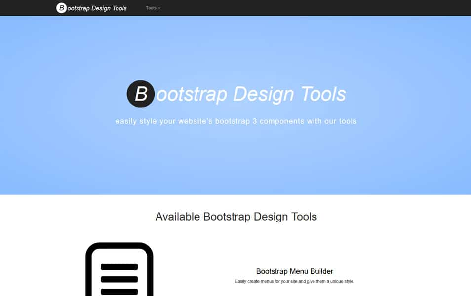 Bootstrap Design Tools