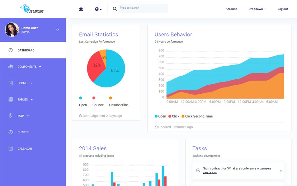 20+ Best Free Responsive ReactJS Admin Themes » CSS Author