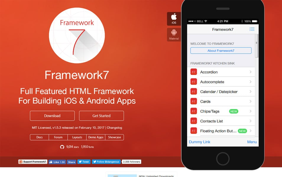 25+ Best Material Design Frameworks » CSS Author
