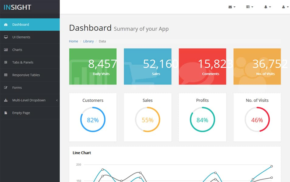 Insight Bootstrap HTML5 Admin Template