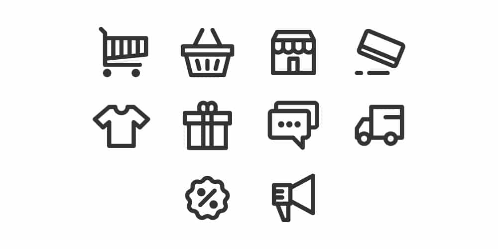 Pixel Perfect E commerce Icons