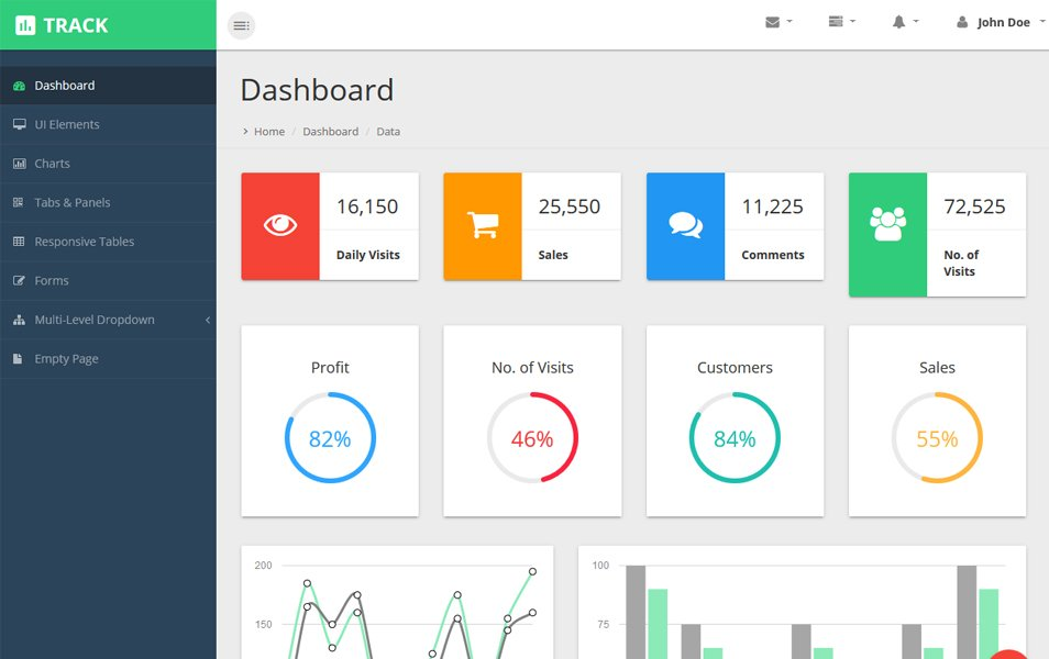 Track Material Design Free Admin Template