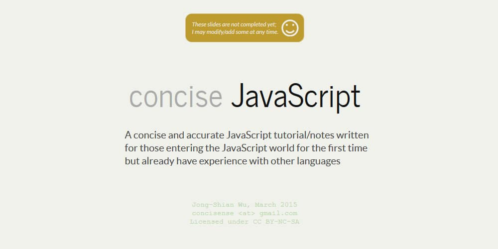 concise JavaScript