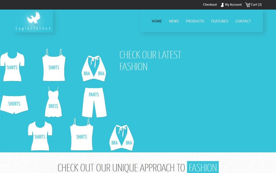 Eagle Cloths HTML Template