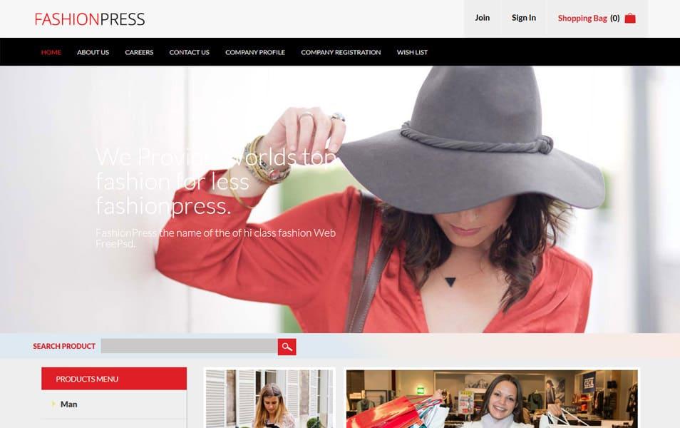 Fashion Press HTML Template