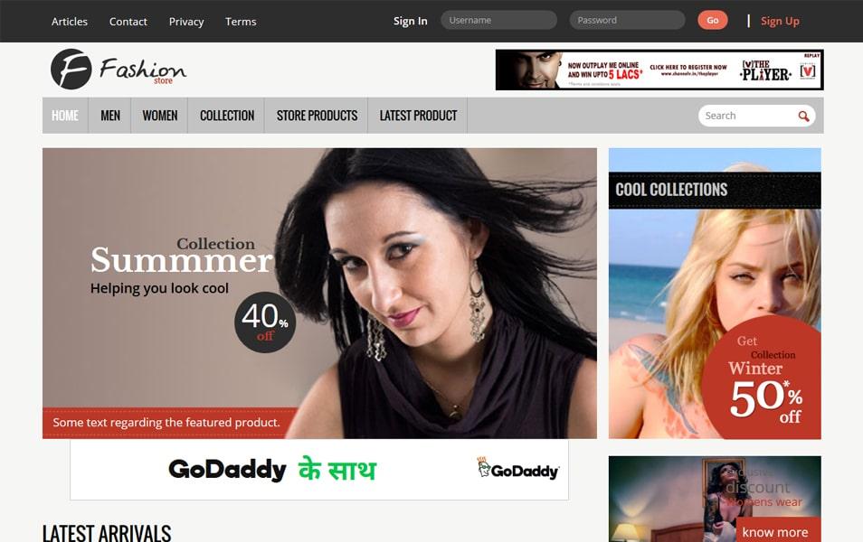 Fashion Store HTML Template