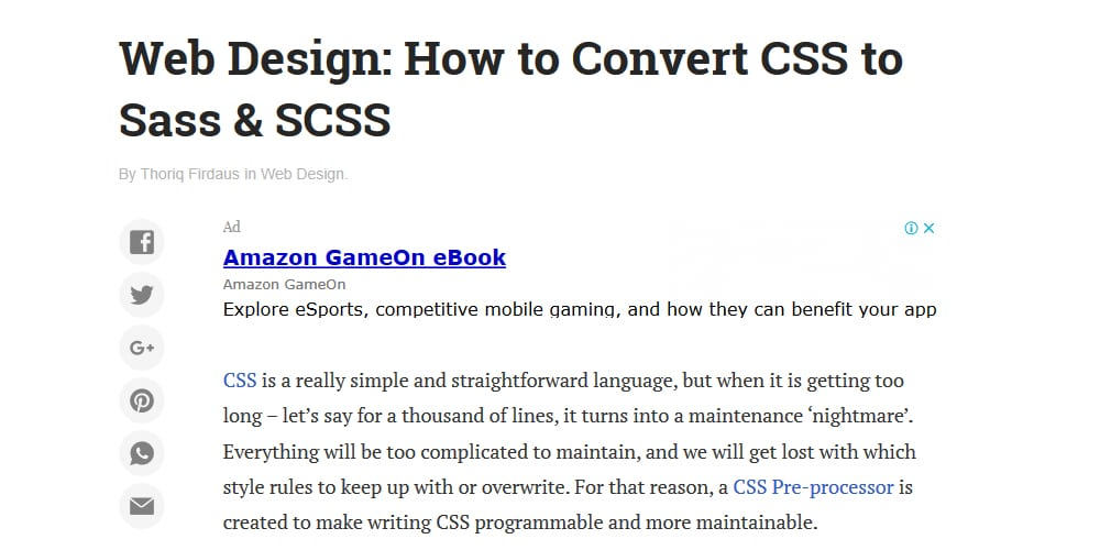 How to Convert CSS to Sass & SCSS