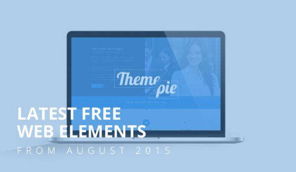 Latest Free Web Elements From August 2015