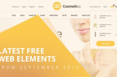 Latest Free Web Elements From September 2015