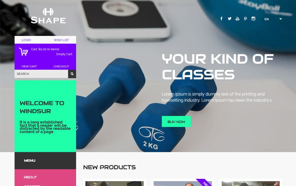 Shape HTML Template