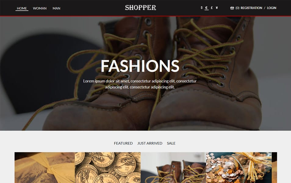 Shopper HTML Template