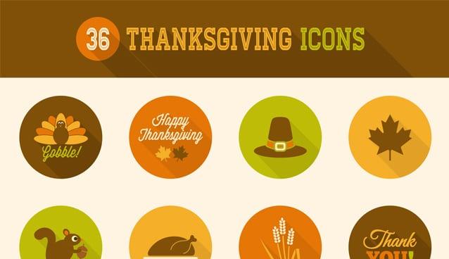 36 thanksgiving icons  u00bb css author