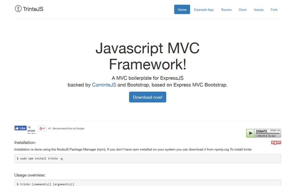 100+ Best Node js Frameworks » CSS Author
