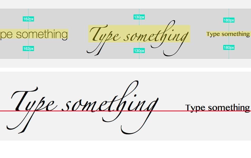Align Text Baseline for Sketch