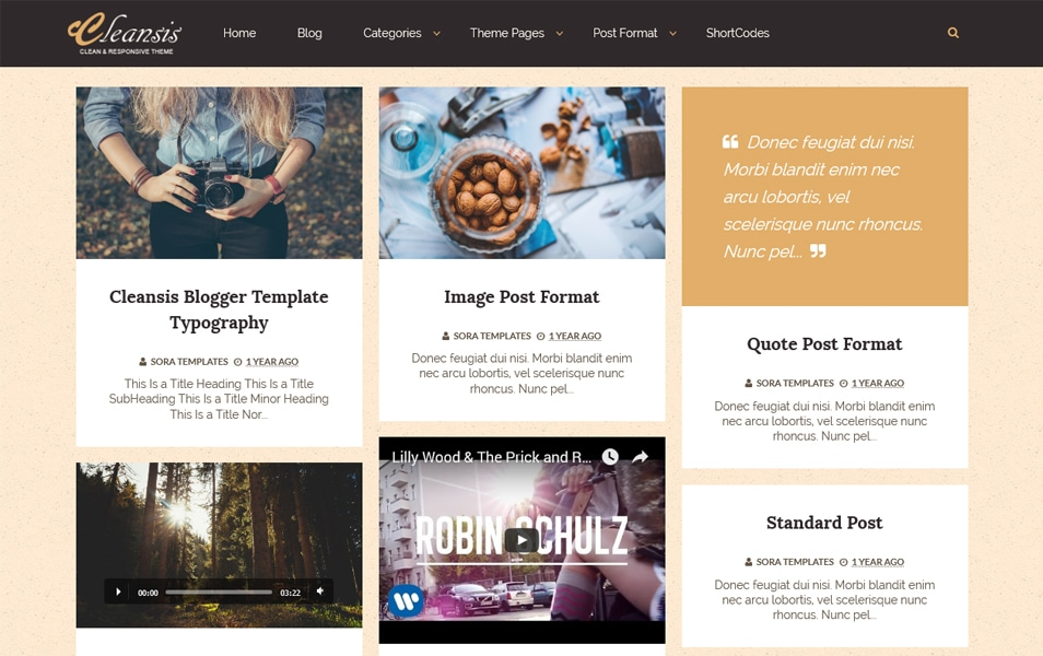 Cleansis Responsive Blogger Template