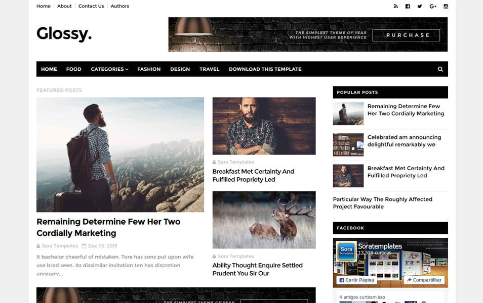 Glossy Responsive Blogger Template