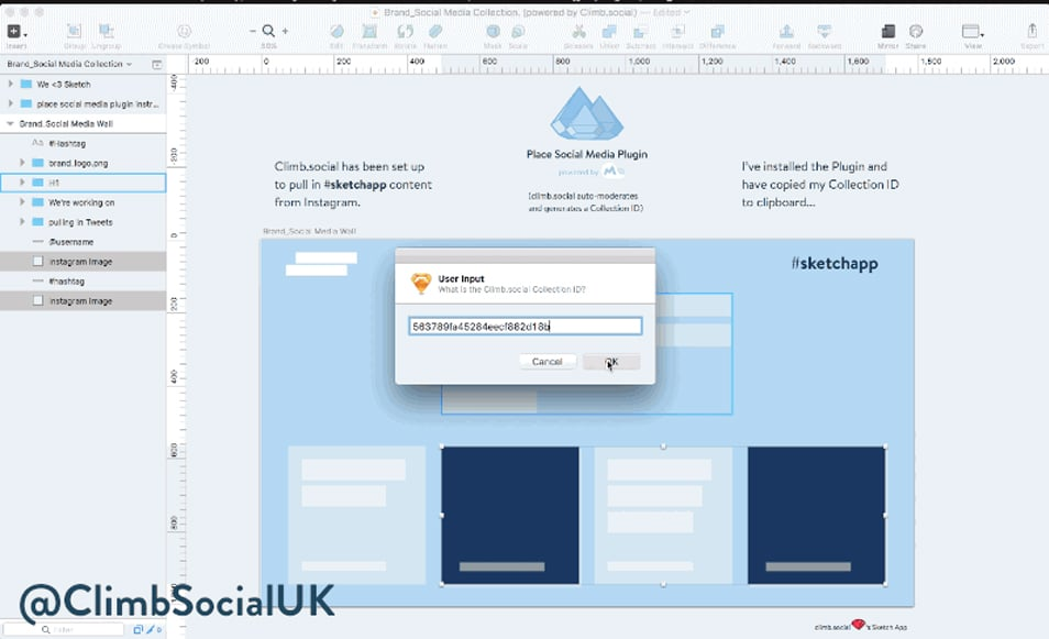 Place Social Media Sketch Plugin