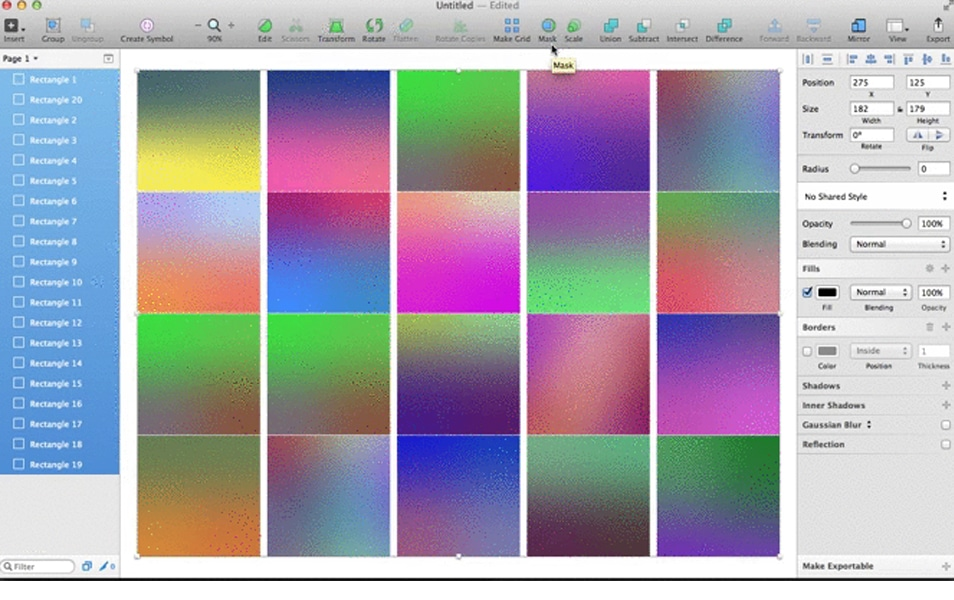 Sketch Colorful Gradients