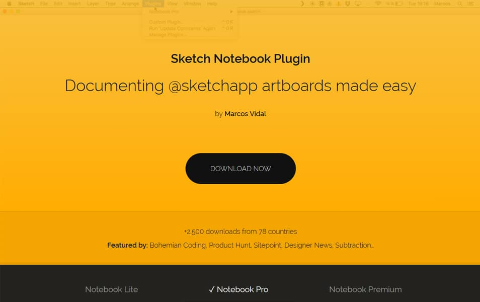 Sketch Notebook Plugin
