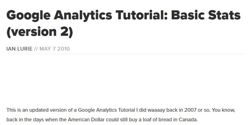 google analytics video tutorial