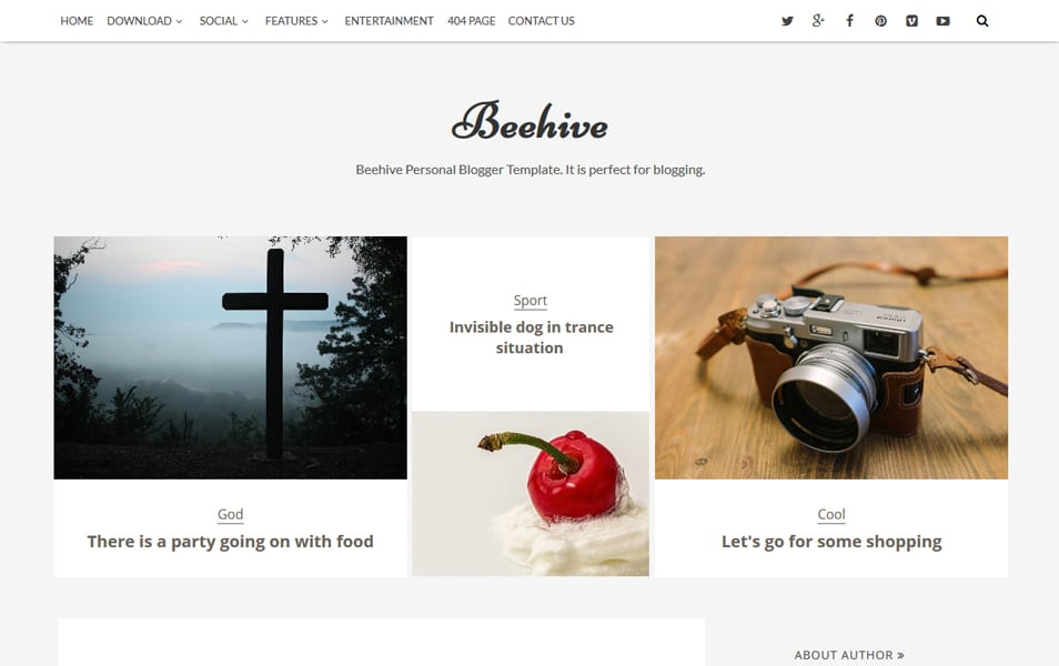 Beehive Responsive Blogger Template