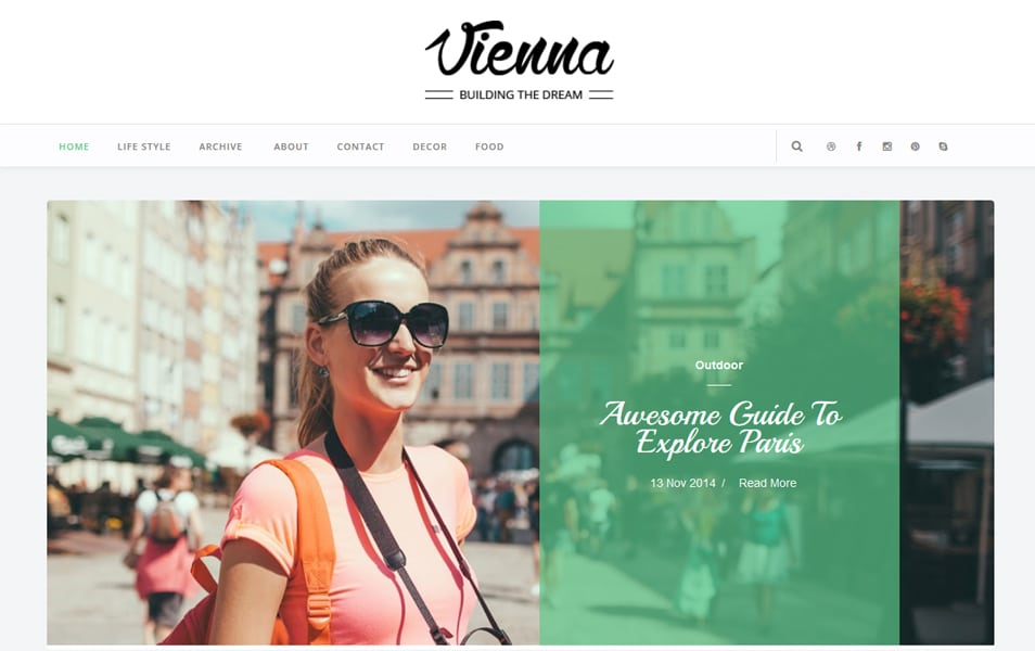 Vienna Responsive Blogger Template