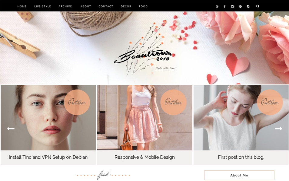 Beauteous Responsive Blogger Template
