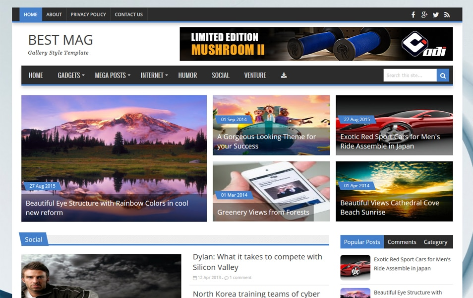 Best Mag Responsive Blogger Template