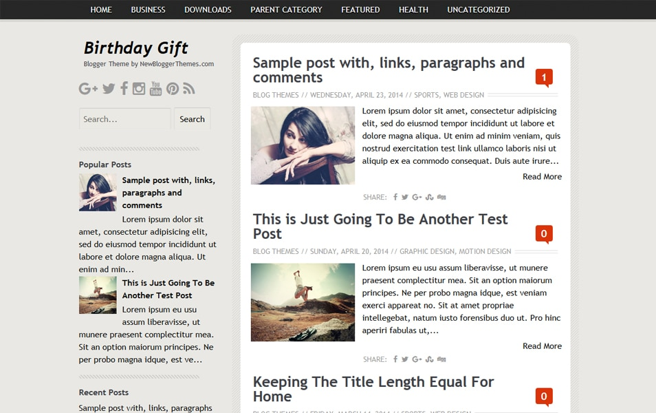 Birthday Gift Responsive Blogger Template