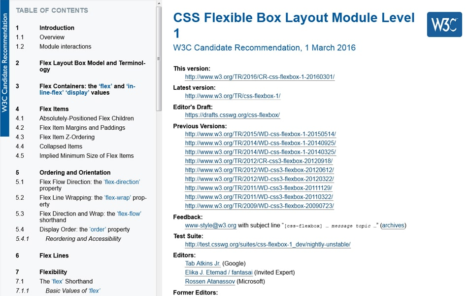 CSS Flexible Box Layout Module Level