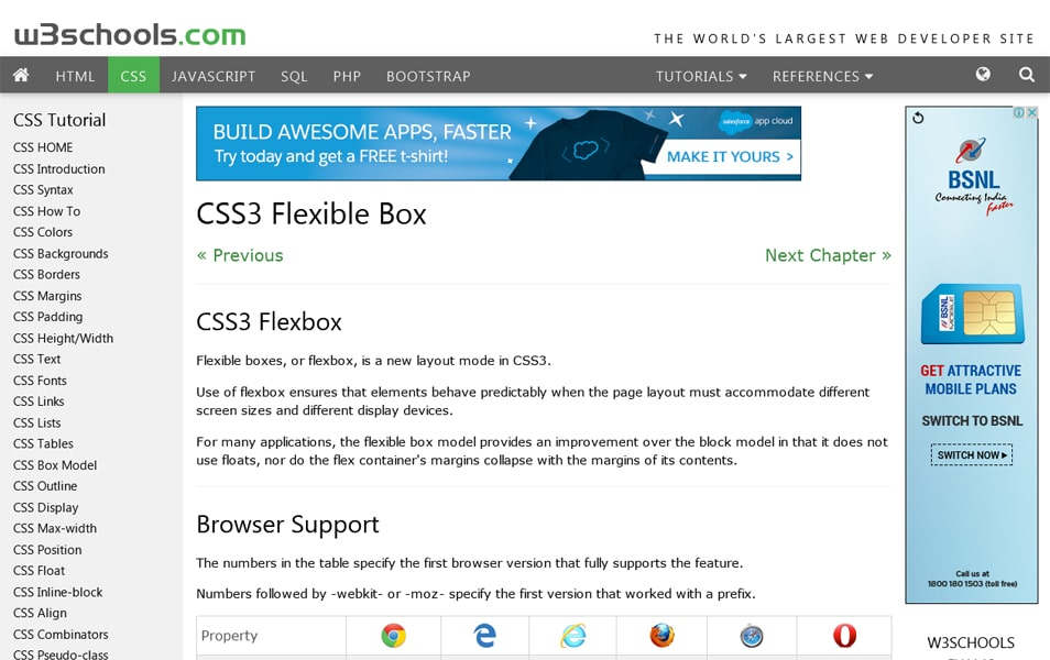 CSS3 Flexible Box