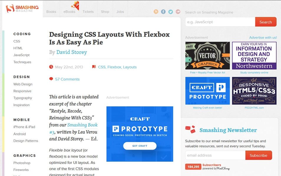 Designing CSS Layouts With Flexbox Is As Easy As Pie