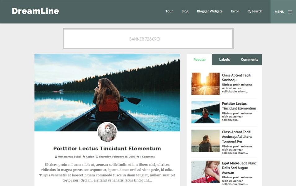 DreamLine Responsive Blogger Template