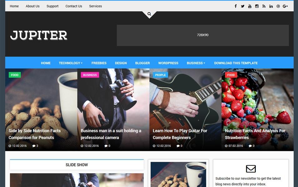 Jupiter Responsive Blogger Template