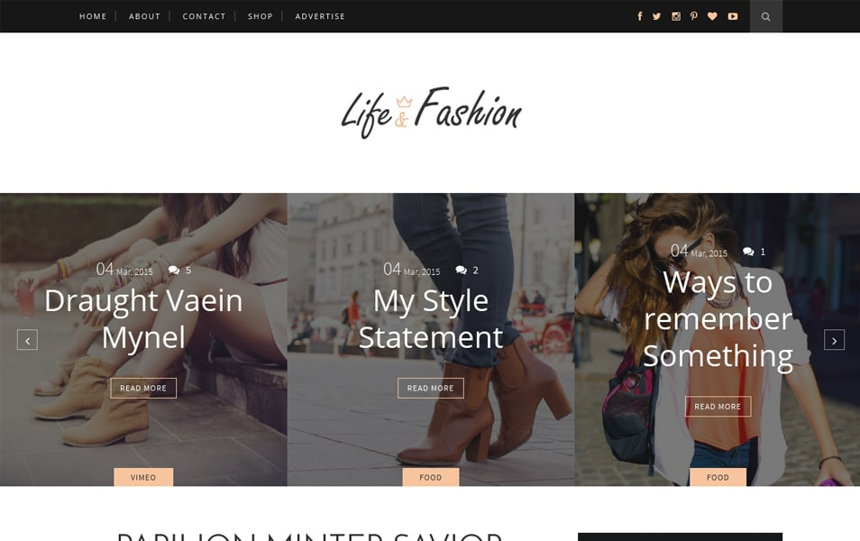 Life-Fashion Responsive Blogger Template
