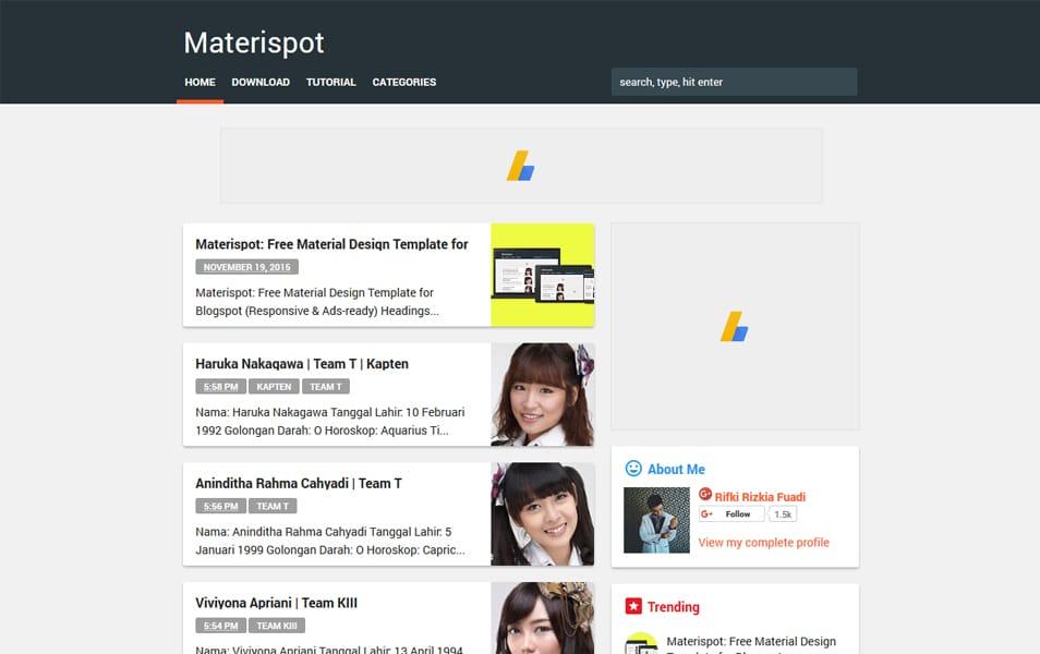 Materispot Responsive Blogger Template