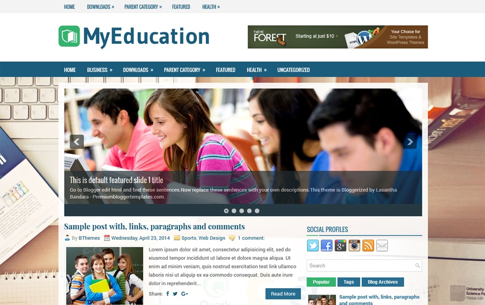 MyEducation Responsive Blogger Template