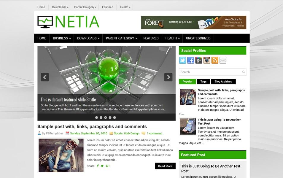 Netia Responsive Blogger Template