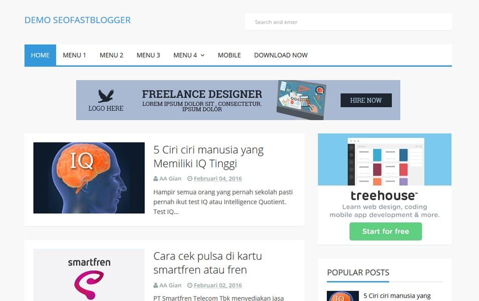 SEOFastBlogger Responsive Blogger Template