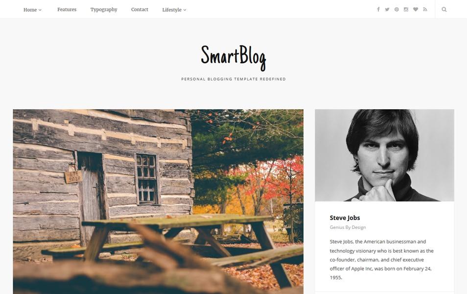 SmartBlog Responsive Blogger Template