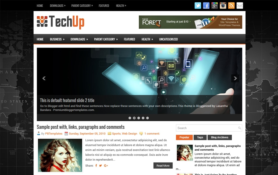 TechUp Responsive Blogger Template