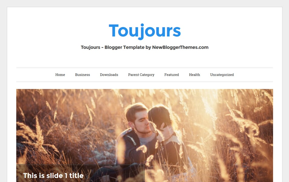 Toujours Responsive Blogger Template