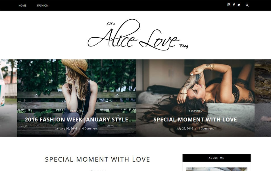 Alice Responsive Blogger Template