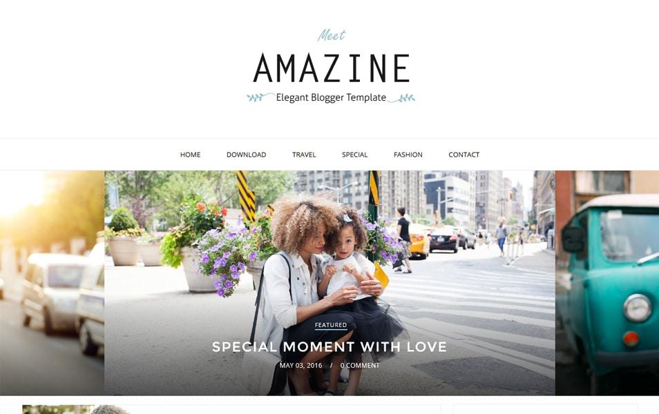 Amazine Responsive Blogger Template