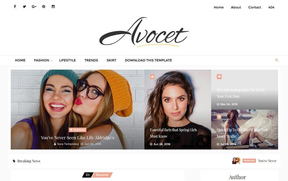 Avocet Responsive Blogger Template