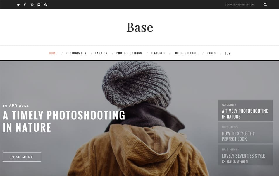 Base Responsive Blogger Template